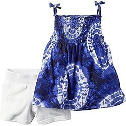 Carters bebé niñas Tie Dye Juego de pantalón corto