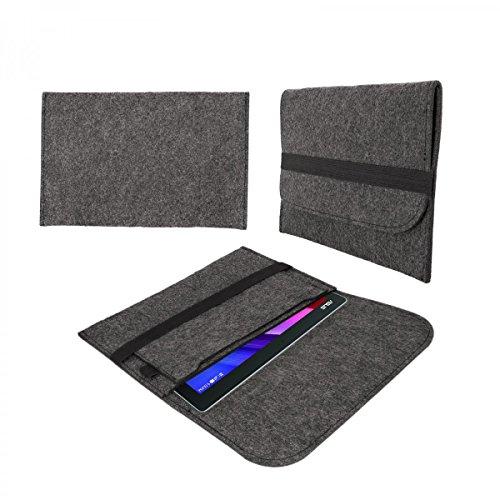 eFabrik Tasche für Allview Wi10N PRO 10.1 Schutztasche Hülle Tablettasche Sleeve Case Soft Cover Schutzhülle Filz dunkel grau