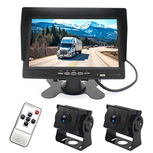 """7\""""Parksystem, 120 ° Auto AHD 1080P 2-Wege-Rückspiegel-Monitor, vollfarbig, IP67 wasserdicht mit Videofunktion für Wohnmobile/Wohnmobile/Busse/Anhänger/LKW"""