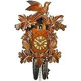 DV-Marketing, Schwarzwälder Kuckucksuhren Original Negro bosques Cuco Reloj/negro bosque de reloj (Certificado), de 8días de, Mecánico, 7hojas, 3pájaros