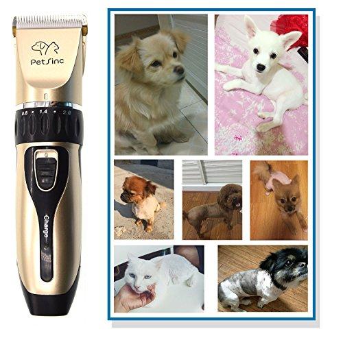 Tierschermaschine für Katze, Hund, Haustier – Profi Elektrische Hundeschermaschine für Grooming – Haustiere Haarschneidemaschine – Geringes Rauschen, Schnurlos, PetSinc - 6