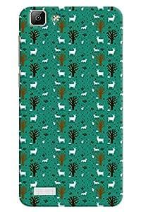 Omnam Deer And Tree Love Printed Designer Back Cover Case For Vivo V1