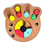 MXECO Multifunctional Natural Food Treated Wooden Educational Paw Puzzle Interactive Toy for Puppies Dogs Cats Pets Supp
