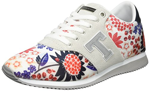 Tommy Hilfiger Damen P1285hoenix 3c3 Sneakers Weiß (Libby Floral 902)