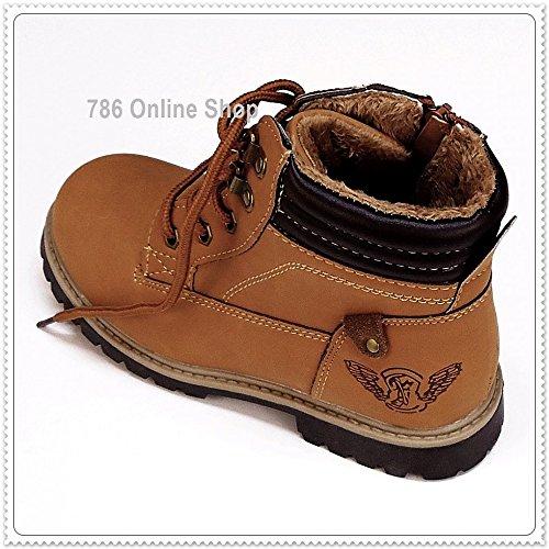 Kinder Schuhe winterschuhe (142A) winterstiefel stiefel Jungen,Mädchen Schuhe Neu Braun