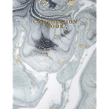 Composition Book: Marble + Gold College Ruled Notebook | 110-Page Marble Plain Lined Journal For Doodling Journaling Writing Notes | 8.5 X 11 Matte Softback Cover