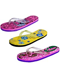 IndiStar Womens Rubber Printed Hawaii Slipper House Flip Flop(Pack Of 3) - B079TX5QKQ