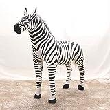 Sconosciuto Bambola Zebra Animale Simulata, Grandi Giocattoli Peluche, Bambole per Bambini, Regali per La Casa, Regalo di Compleanno 56cm