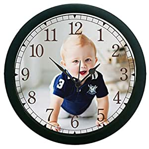 meSleep Crawl baby 3D Wall Clock (With Glass)