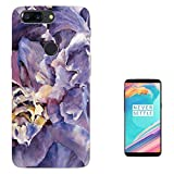 002923 - Purple Floral Roses flowers Petals Waves Effect Design OnePlus 5T Fashion Trend Case Gel Rubber Silicone All Edges Protection Case Cover