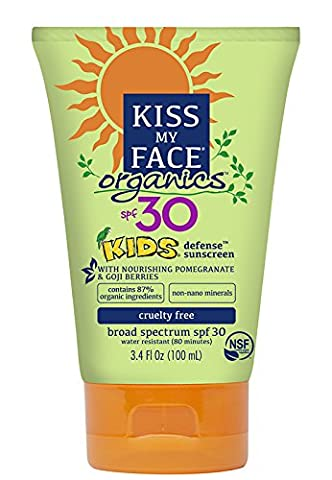 Kiss My Face Kids Mineral SPF 30 Natural Organic Sunscreen, 3.4 Ounce by Kiss My Face