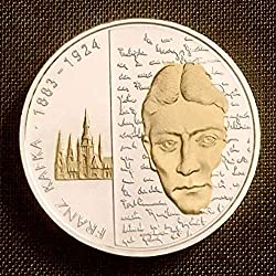 Deutschland (2008) Silbermünze, teilvergoldet, 125. Geburtstag Franz Kafka