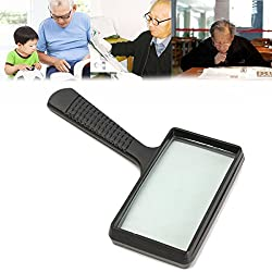 Generic Large Handheld Rectangular Magnifier Magnifying Glass Loupe For Reading