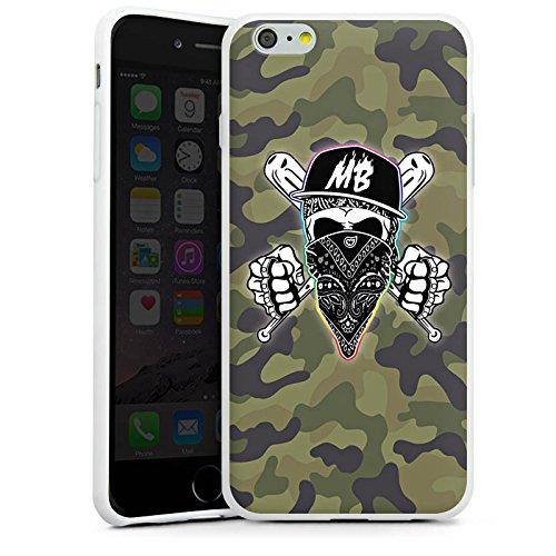 Apple iPhone X Silikon Hülle Case Schutzhülle Montanablack Fanartikel Merchandise MontanaBlack Base Camo Silikon Case weiß