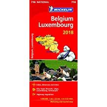 Belgium & Luxembourg 2018 (Michelin National Maps)