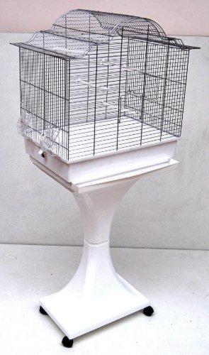 Vogelkäfig Sopia Weiß mit Zubehör Starter Set