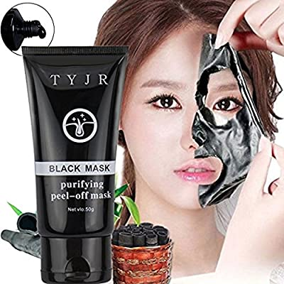 Black Face Mask Deep Cleansing Blackhead Removal purifying peel-off mask Clean Remover Charcoal Activated 100% Natural 50ml by Neutriherb UK