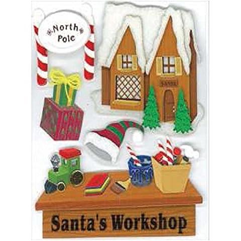 Jolees Christmas Stickers, Santa's Workshop by