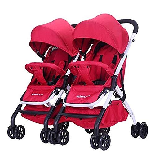 Passeggino gemellare, ammortizzatore pieghevole reclinabile leggero staccabile secondo passeggino doppio doppio, 100x79x96cm (color : 6)