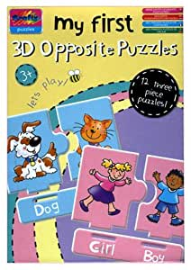 Grafix My First 3D Opposite Puzzles age 3+ 12 Puzzles Toys & Games Puzzle Toys 5015934227640