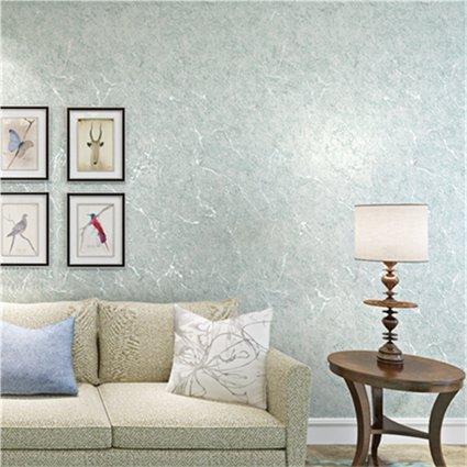 JSLCR Vintage Tapete ist einfach und modern, fleckige Volltonfarbe Vliestapete Wohnzimmer Schlafzimmer Studie legte die Tapete,Nebel-blau