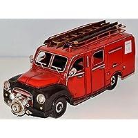 Opel Pompieri Rosso 1960 N.1 Lamiera Vigili Fuoco Modello Lamiera Vintage Fire Truck ca. 32 cm 37352