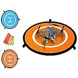DD Drone Landeplatz, Tragbare Landeunterlage für Phantom 2/3/4/4 Pro, Inspire 2/1, 3DR Solo, RC Drohnen Hubschrauber DJI Mavic Pro, Papagei, Antel Robotic & More (Wasserdicht und Universal Helipad)