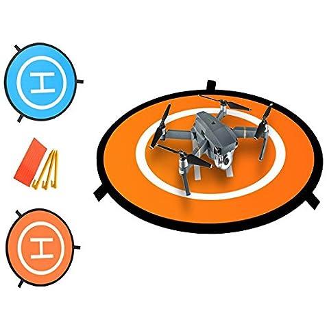Drone landing pad ,Portable landing mat for Phantom 2/3/4/4 Pro, Inspire 2/1, 3DR Solo, RC Drones Helicopter DJI Mavic Pro, Parrot, Antel Robotic & More (Waterproof & Universal