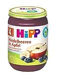 HiPP Früchte Heidelbeeren in Apfel, 6er Pack (6 x 190 g)