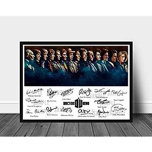 Signierter Druck der 14 Doctors Who Played Doctor Who zwischen 1963-2018
