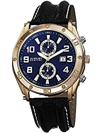 August Steiner AS8117BU - Reloj de cuarzo para hombres, color negro