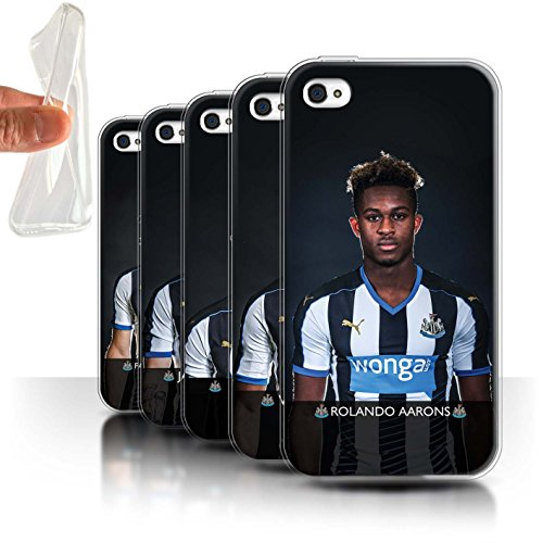 Officiel Newcastle United FC Coque / Etui Gel TPU pour Apple iPhone 4/4S / Pack 25pcs Design / NUFC Joueur Football 15/16 Collection Pack 25pcs