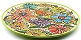 Art Escudellers vailla in Ceramica Realizzato E Dipinto A Mano con Decorazione Fiore (Verde) Piatto Pizza 33 cm