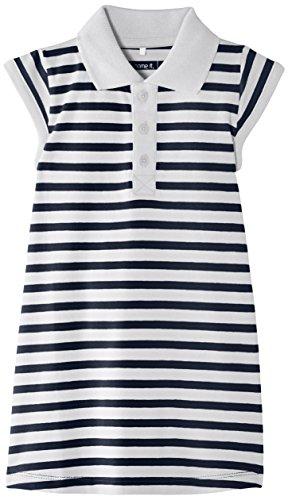 NAME IT Mädchen Kleid Vildana Mini Cap SL Dress STR Mar 215, Gr. 80 (Herstellergröße: 9-12 Months), Blau (Dress Blues) -