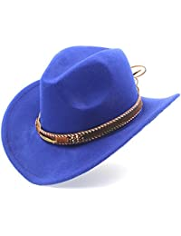 699b07e07c2ff SSLA Fashion Women Men Western Cowboy Hat with Roll up Brim Fedora Sombrero  Hombre Caps