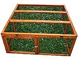 Elmato 11001 Freilauf, Deluxe mit Gitterstäben und Deckel, 120 x 120 x 48 cm