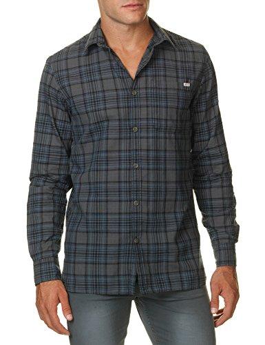 Jack & Jones Men's Merrick Onepocket Men's Khaki Plaid Shirt 100% Cotton Plaid