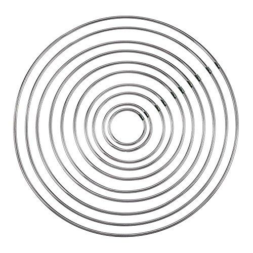 Jerome10Dan 10 Teil/Paket Traumfänger Metall Ringe Metall Hoops, Makramee Ring für Traumfänger für Handwerk und Raum Innenarchitektur Projekte