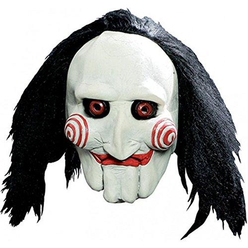 (Luxuspiraten - Kostüm Accessoire Latex Maske Halloween Horror, Weiß)