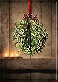 3d de Navidad muérdago para 2en 1tarjeta, Navidad, único inusual