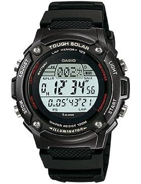 Casio Collection – Unisex-Armbanduhr mit Digital-Display und Resin-Armband – W-S200H-1BVEF