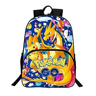 51X7QXzwH3L. SS324  - Mochila Pokemon Escolar, Mochila Pokemon Go Pikachu Eevee Grande para Infantil Niños y Niñas Unisex Bolsa Portátil para Mujeres Hombre Viaje Hombro Mochila Backpack para Adolescentes Estudiantes