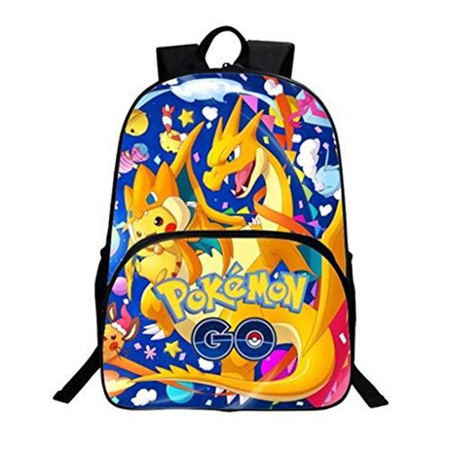 Rucksack Kinder,Pikachu Cartoon Muster Grundschule Rucksack Mädchen Junge,Karikatur Drucken Studenten Schultasche Rucksäcke Creative Daypacks Tasche Backpack Sale (1) ()