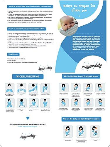 happylovebaby schadstofffreies Baby-Tragetuch für Neugeborene und Kleinkinder | Baby Wrap Carrier Sling besonders weich und atmungsaktiv / natürliche Baumwolle / elastisch - 7