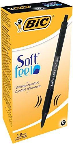 bic-soft-feelclic-grip-penna-a-sfera-a-scatto-punta-media-da-10mm-confezione-da-12-pezzi-colore-nero