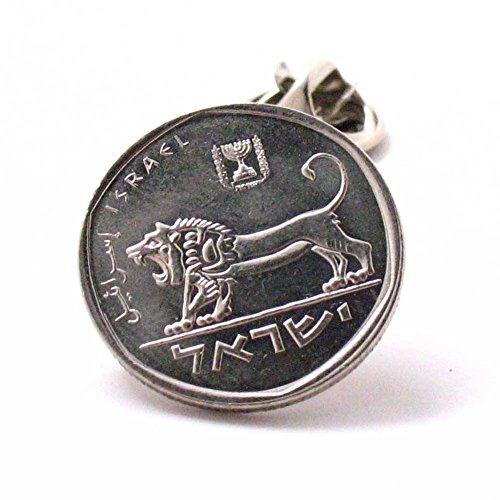 Israel Münze Krawattennadel Anstecknadel Flagge Israelischer Jude Hebräische Bibel Tora Jüdischer Biblischer Löwe von Juda Palästina Armee (Biblische Münze)