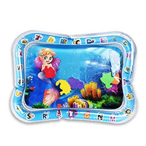 Tapis de jeu Tummy Time Water pour nourrissons Tout-petits tout-petits Centre d'activités étanches pour nouveau-nés S'engageant avec des jouets amusants Jouets flottants Jouets sensoriels (Sirène)