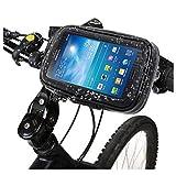DFV mobile - Professionelle Unterstützung für Motorrad Fahrrad Lenker und drehbare Wasserdichte 360 ºfür=> RUGGEAR RG850 > Schwarz