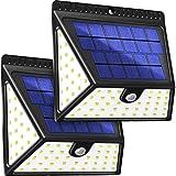 Luce Solare Esterna, BAXiA 2400mAh Lampada Solare con Sensore di Movimento Luci Solari Impermeabile Lampada Solare di Sicurezza Illuminazione Esterno per Giardino (82 LED, 2 Pezzi)