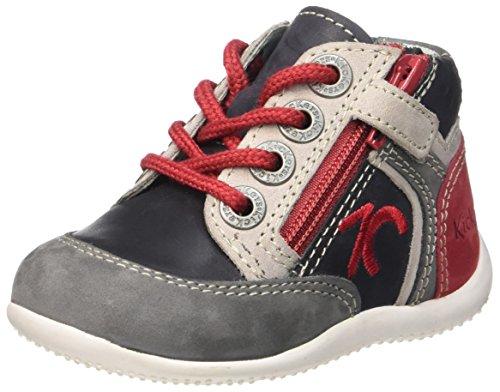 Kickers Barney, Chaussures Premiers Pas Bébé Garçon, Noir (Noir/Gris/Rouge), 20 EU